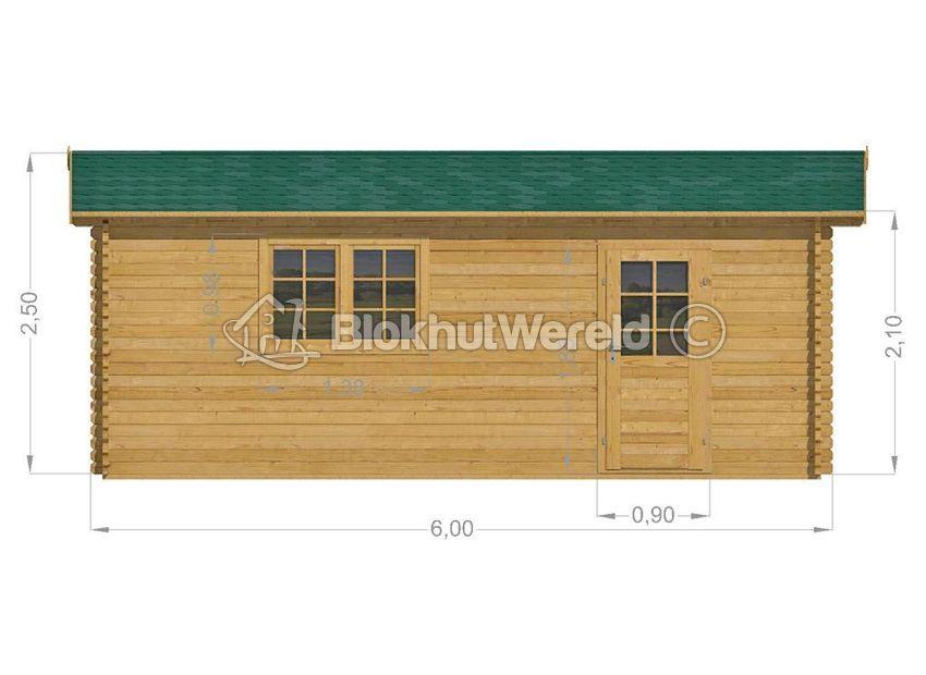 Houtbouw Garage Schuur : Houten garage zuid holland 4x6m 44mm blokhutwereld.nl